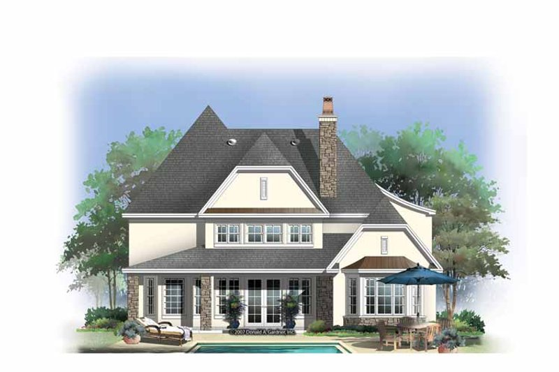 European Exterior - Rear Elevation Plan #929-838 - Houseplans.com