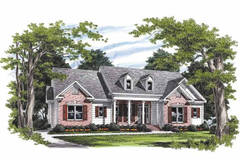 Colonial Exterior - Front Elevation Plan #927-594