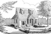 Colonial Style House Plan - 1 Beds 1 Baths 717 Sq/Ft Plan #410-249 Exterior - Front Elevation