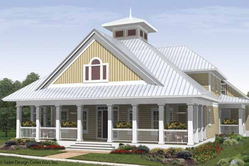 Architectural House Design - Country Exterior - Front Elevation Plan #930-408