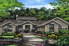 Prairie Exterior - Front Elevation Plan #929-1001