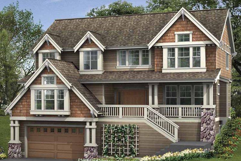 Craftsman Exterior - Front Elevation Plan #132-400 - Houseplans.com