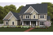 Colonial Exterior - Front Elevation Plan #1010-65