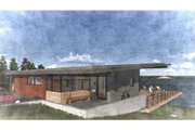 Modern Style House Plan - 4 Beds 3.5 Baths 3056 Sq/Ft Plan #498-6 Exterior - Front Elevation