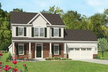 Colonial Exterior - Front Elevation Plan #1010-113