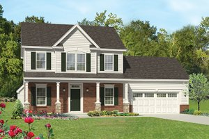 House Design - Colonial Exterior - Front Elevation Plan #1010-113
