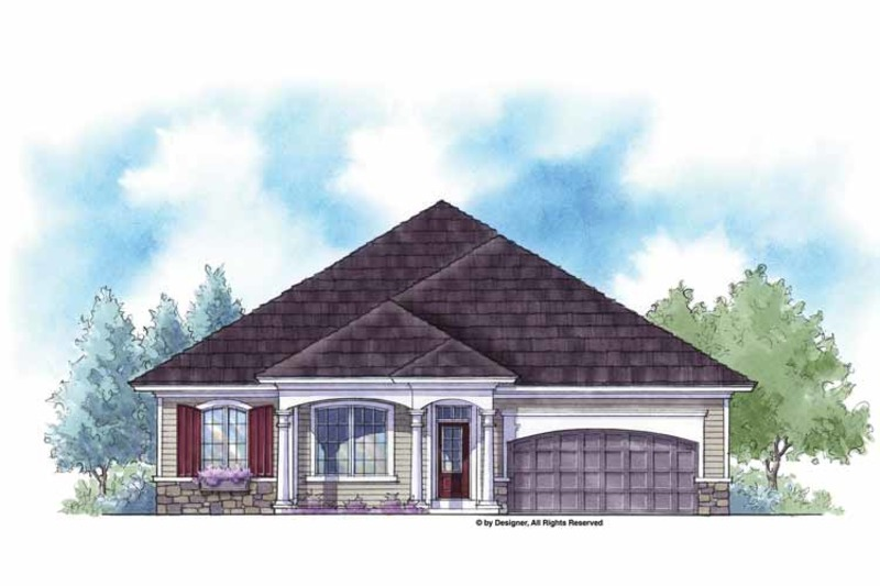 Country Exterior - Front Elevation Plan #938-12 - Houseplans.com