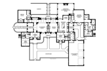Mediterranean Floor Plan - Main Floor Plan Plan #1058-18