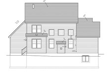 House Plan Design - Traditional Exterior - Rear Elevation Plan #1010-75