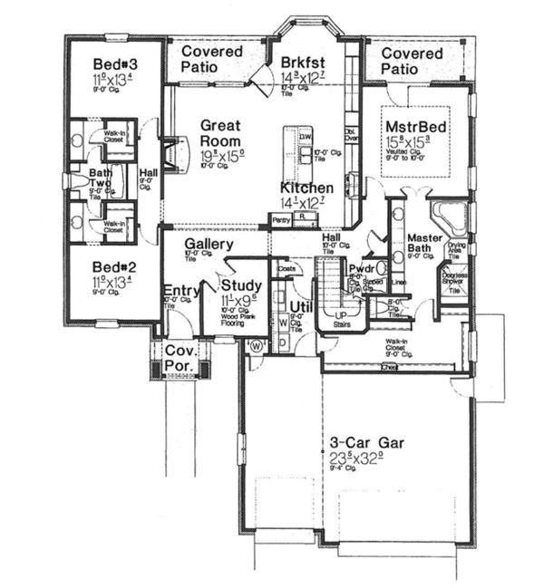 European Floor Plan - Main Floor Plan Plan #310-1267