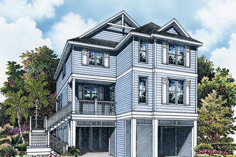 Architectural House Design - Country Exterior - Front Elevation Plan #929-996