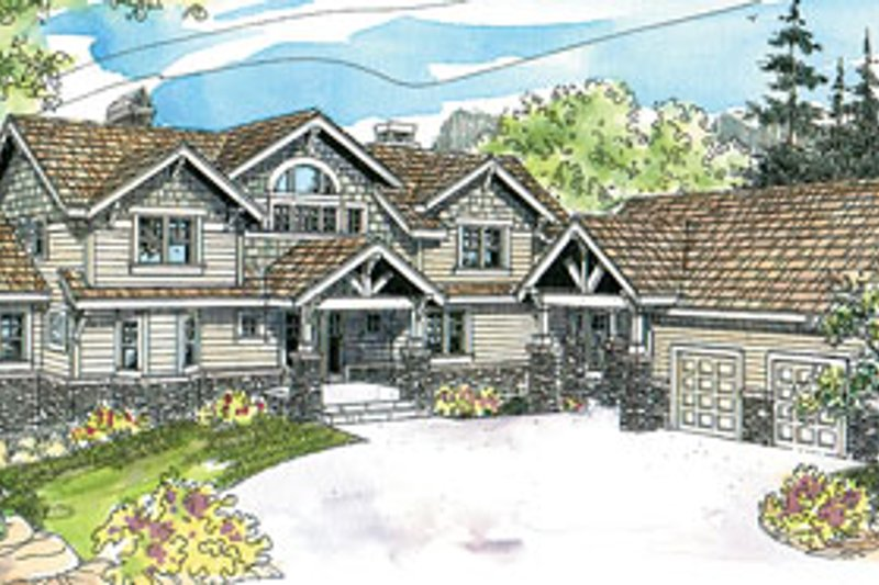 European Exterior - Front Elevation Plan #124-586