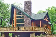 Cabin Style House Plan - 3 Beds 3 Baths 1676 Sq/Ft Plan #314-285 Exterior - Front Elevation