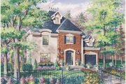 European Style House Plan - 3 Beds 1 Baths 1300 Sq/Ft Plan #25-4784 Exterior - Front Elevation