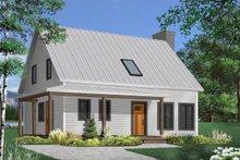 Cottage Exterior - Front Elevation Plan #23-498