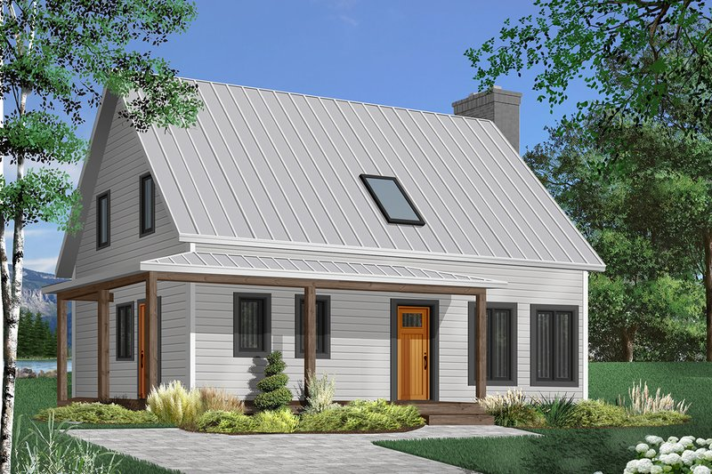 Home Plan - Cottage Exterior - Front Elevation Plan #23-498