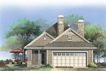 Craftsman Exterior - Rear Elevation Plan #929-847