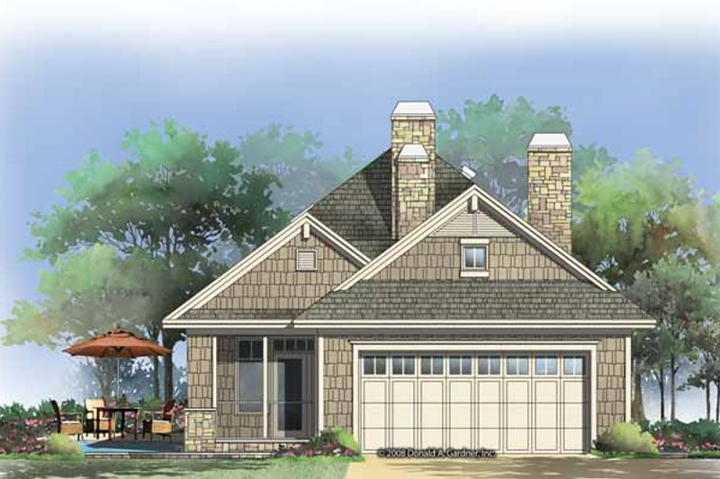 Craftsman Exterior - Rear Elevation Plan #929-847 - Houseplans.com