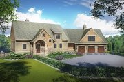European Style House Plan - 4 Beds 3 Baths 3080 Sq/Ft Plan #928-217 Exterior - Front Elevation