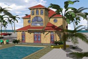 House Plan Design - Beach Exterior - Front Elevation Plan #8-311
