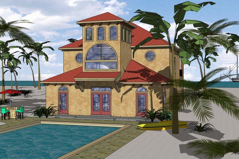Beach Exterior - Front Elevation Plan #8-311