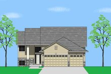 Home Plan - Prairie Exterior - Front Elevation Plan #981-3