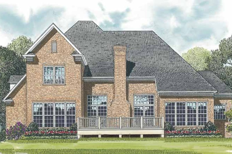 Traditional Exterior - Rear Elevation Plan #453-526 - Houseplans.com