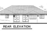 Ranch Style House Plan - 3 Beds 2 Baths 1450 Sq/Ft Plan #18-107 Exterior - Rear Elevation