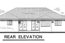 Ranch Exterior - Rear Elevation Plan #18-107