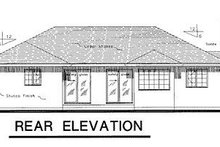 Ranch Exterior - Rear Elevation Plan #18-107