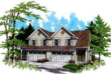 Traditional Exterior - Front Elevation Plan #48-154