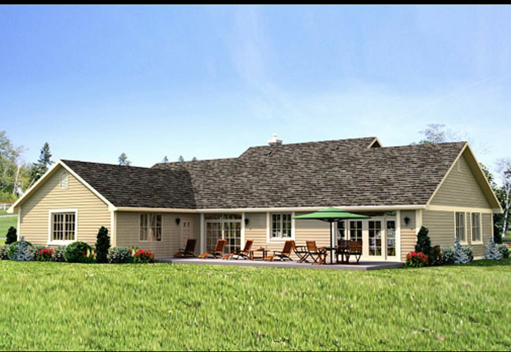 Ranch style house plan 3 beds 2 baths 1924 sq ft plan for Weinmaster house plans