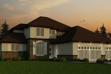 Architectural House Design - European Exterior - Front Elevation Plan #20-2245