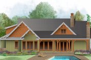 Craftsman Style House Plan - 3 Beds 2 Baths 1743 Sq/Ft Plan #929-999 Exterior - Rear Elevation