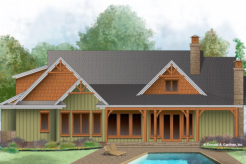 Craftsman Exterior - Rear Elevation Plan #929-999 - Houseplans.com