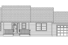 Ranch Exterior - Front Elevation Plan #1061-35
