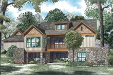 Home Plan - Country Exterior - Rear Elevation Plan #17-3349