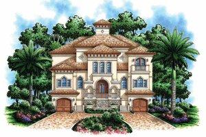 Home Plan - Mediterranean Exterior - Front Elevation Plan #1017-110
