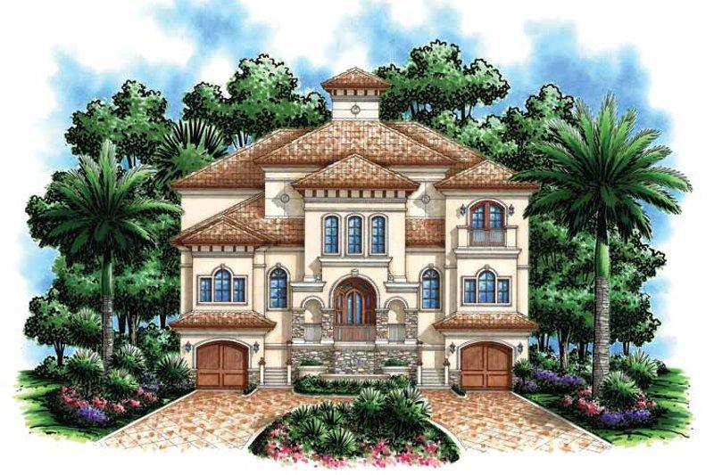 Dream House Plan - Mediterranean Exterior - Front Elevation Plan #1017-110