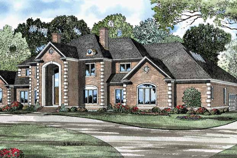 Traditional Exterior - Front Elevation Plan #17-3127 - Houseplans.com