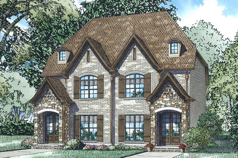 Dream House Plan - European Exterior - Front Elevation Plan #17-3400
