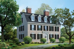 Dream House Plan - Classical Exterior - Front Elevation Plan #72-818