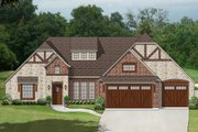 European Style House Plan - 3 Beds 3 Baths 2325 Sq/Ft Plan #84-606 Exterior - Front Elevation