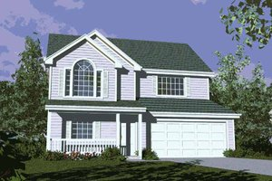 Country Exterior - Front Elevation Plan #509-144