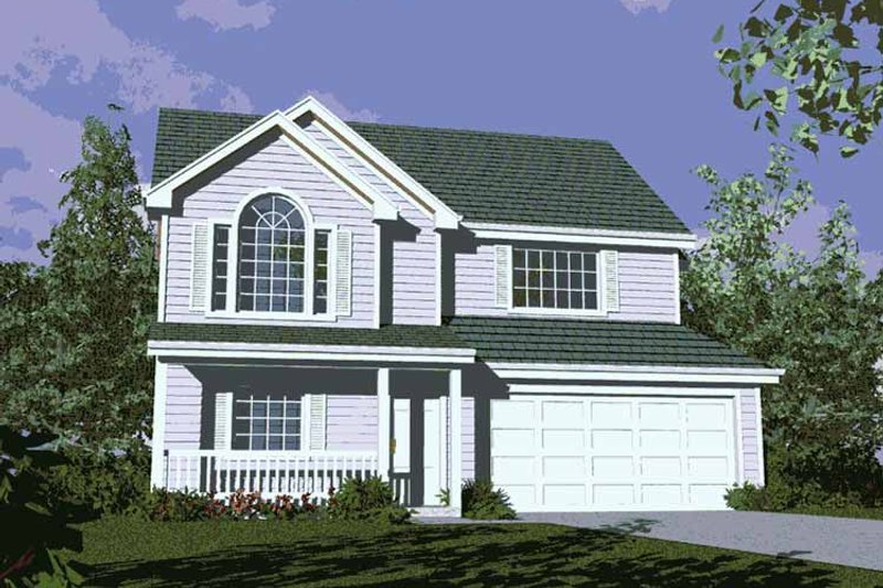 Country Exterior - Front Elevation Plan #509-144 - Houseplans.com