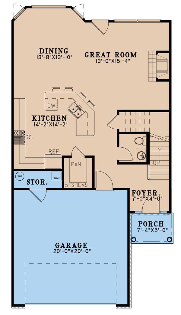 Craftsman Floor Plan - Main Floor Plan #923-196