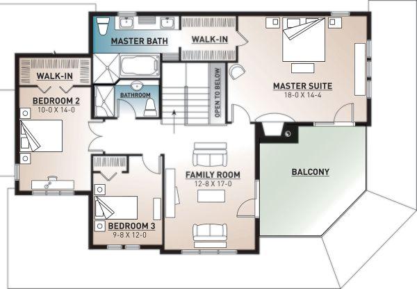 Traditional Floor Plan - Lower Floor Plan Plan #23-2510