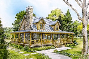 Dream House Plan - Front View -  1500 square foot Country home