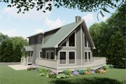Country Style House Plan - 3 Beds 2 Baths 1697 Sq/Ft Plan #126-223 Exterior - Front Elevation