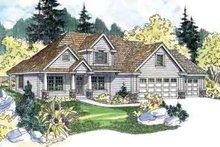 Home Plan - Farmhouse Exterior - Front Elevation Plan #124-517